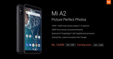 Xiaomi Mi A2 Next Flash Sale Date