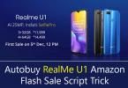 Autobuy RealMe U1 Flash Sale Script Trick