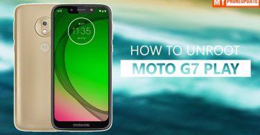 How To Unroot Motorola Moto G7 Play