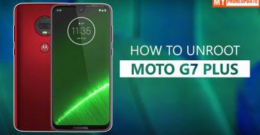 How To Unroot Motorola Moto G7 Plus