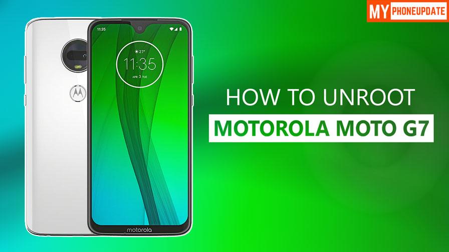 How To Unroot Motorola Moto G7