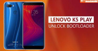 Unlock Bootloader Of Lenovo K5 Play