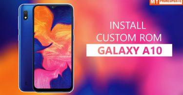 Install Custom ROM On Samsung Galaxy A10